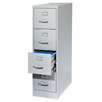 4-dr Vertical File Cabinet - Grey