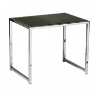 Aldo End Table OS Black Glass
