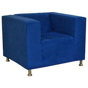 Alex  (Classic damian-chair-blue-suede) 36x33x27h