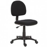 Black Secretary Chair 25x25x40h