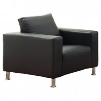 Brag Chair  Black Leather (Cst) 38x34x34h1