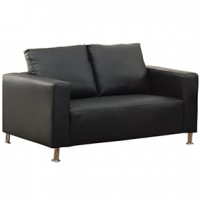 Brag Loveseat  Black Leather 55x34x34h(cst)1