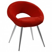 Capri Chair- SCARLET 18x18x17h   (Us pride )