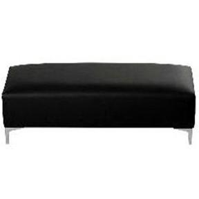 Cubix Bench Black Leather  52x15x20h_exposure