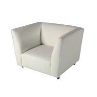 Excite Chair White Leather 36x34x34