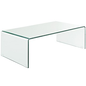 Glass  Cocktail Table 43x 23x 14h