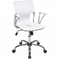 Gossip Office Chair 22x22x37H White Leather