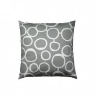 Grey Circle Pillow