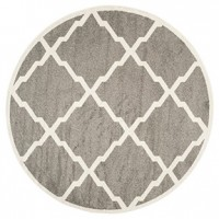 Lexie Rug- Grey and White 7' Round AreaRug