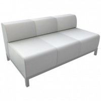 Havana Sofa White 62x34x34 Loveseat 52x34x34