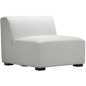 Havanna Chair White Leather  28x28x34h