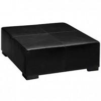 Lenox- Square Black Leather