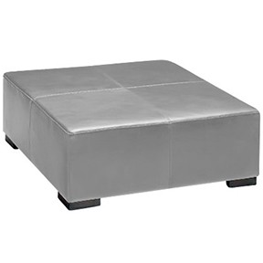Lenox  Square Silver Grey Leather