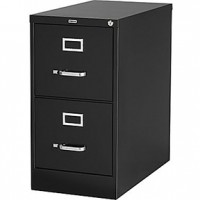 Low Vertical File Cabinet - Black