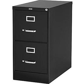 Low Vertical File Cabinet - Black