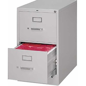 Low Vertical File Cabinet - Grey