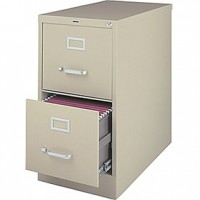 Low Vertical File Cabinet - Putty