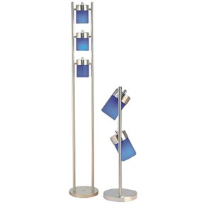 Madrid Floor and Table Lamp Blue 65H, 25H ( SH)