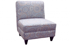 Maxim Chair 26x32x34 Grey pattern Fabric