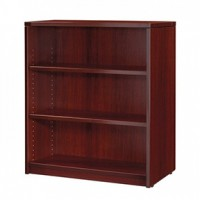 Miller 3-Shelf BookCase-Mahogany