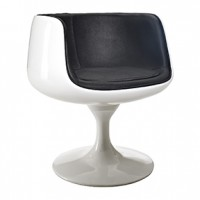 Moon swivel Chair 25x26x30h
