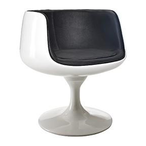 Moon swivel Chair 25x26x30h