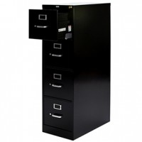 Napa 4 dr Lateral File  Black