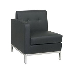 No Limit Chair LF Black leather 27x28x30h