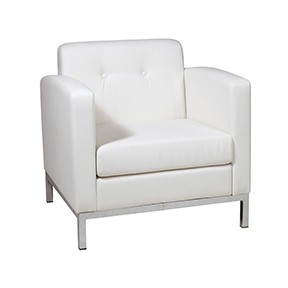 No Limit Chair White leather 31x26x25h