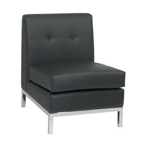 No Limit Side Chair Black Leather  23x28x30h