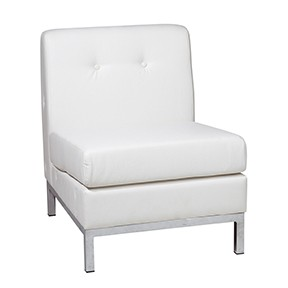 No Limit Side Chair White Leather  23x28x30h