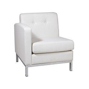 No limit Chair  LF White Leather 27x28x30h