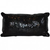 Sequined Black Pillow