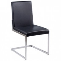Ashby Black Chair  (Cst 100515Blk )17x19x16h