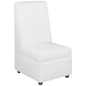 Spanga High Back   Chair White Leather  26x31x48h