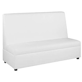 Spanga Sofa  High Back   White Leather 72x31x48h  Loveseat 48x31x48h
