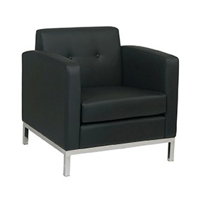 Stage Chair -No Limit Chair Black Leather 31x26x25h