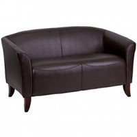 Stylus Loveseat 52x29x30h Expresso Leather (flash)