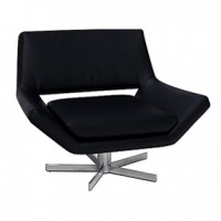 Yield Chair BlackLeather  31x28x30h