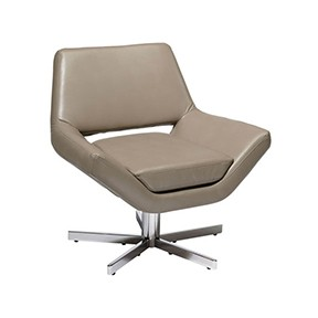 Yield Chair (OS) Gray Leather 31x28x30h