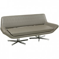 Yield Sofa Gray Leather  72x30x31h