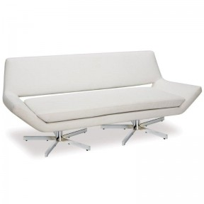 York Sofa White leather  72x30x30h