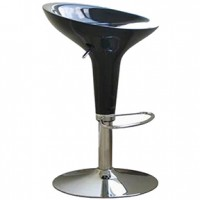 bombe bar stool black  18x19x32h