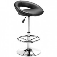 flute bar stool black 20x18x30h