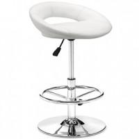 flute bar stool white  20x18x30h